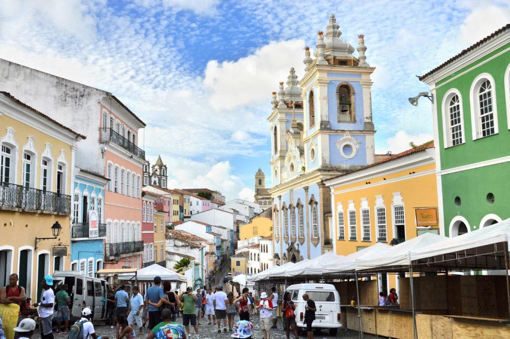 Photo of a street within Salvador, the Pelourinho.